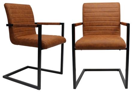 Kubis stoelen | Betaalbaar design voor een moderne en industriële look cognac