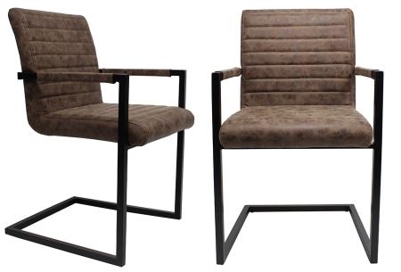 Kubis stoelen | Betaalbaar design voor een moderne en industriële look bruin