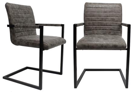 Kubis stoelen | Betaalbaar design voor een moderne en industriële look taupe