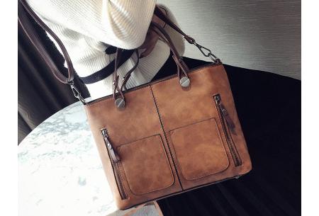 Cowboy hand- en schoudertas | Stijlvolle tas met vintage lederlook