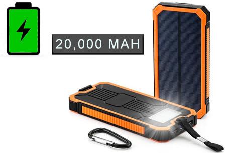 Solar powerbank met korting