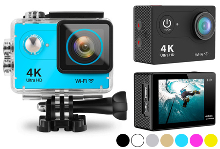 4K Ultra HD Action camera met WiFi