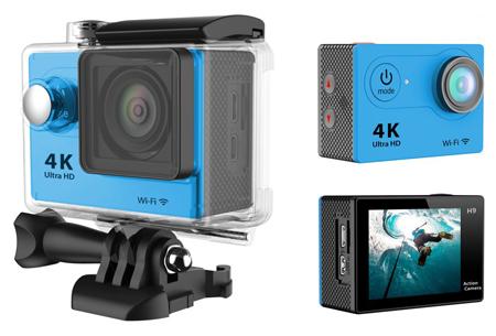 4K Ultra HD Action camera met WiFi | Superieure beeldkwaliteit voor al jouw actievideo's en -foto's