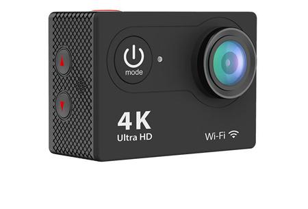 4K Ultra HD Action camera met WiFi | Superieure beeldkwaliteit voor al jouw actievideo's en -foto's zwart