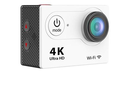 4K Ultra HD Action camera met WiFi | Superieure beeldkwaliteit voor al jouw actievideo's en -foto's wit