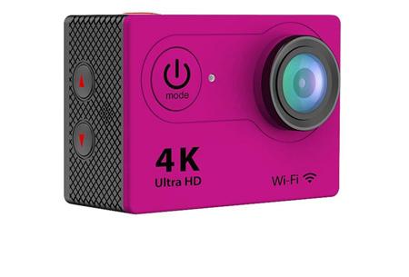 4K Ultra HD Action camera met WiFi | Superieure beeldkwaliteit voor al jouw actievideo's en -foto's roze