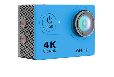 4K Ultra HD Action camera met WiFi | Superieure beeldkwaliteit voor al jouw actievideo's en -foto's blauw
