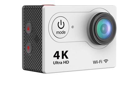 4K Ultra HD Action camera met WiFi | Superieure beeldkwaliteit voor al jouw actievideo's en -foto's zilver
