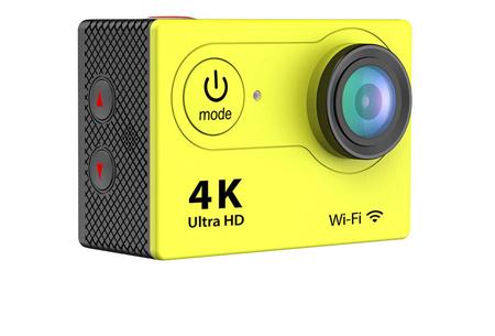 4K Ultra HD Action camera met WiFi | Superieure beeldkwaliteit voor al jouw actievideo's en -foto's geel