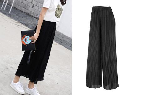 Plissé broek   Comfortabele stretchstof voor ultiem draagcomfort zwart