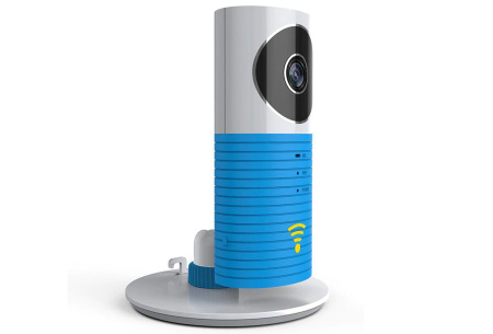Smart Wifi security camera met night vision | Houd alles in gaten via je telefoon Blauw
