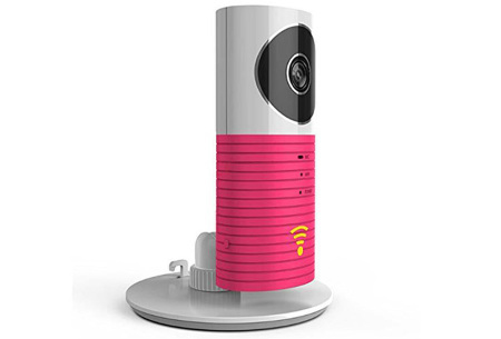 Smart Wifi security camera met night vision | Houd alles in gaten via je telefoon Roze