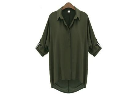 Daily blouse   Stijlvolle en trendy blouse Legergroen