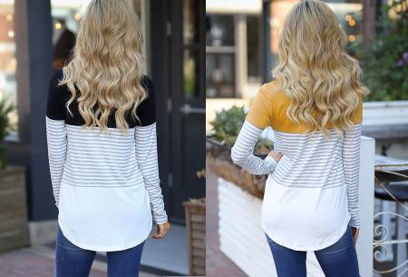 Striped longsleeve shirt | Trendy, casual en heerlijk comfortabel