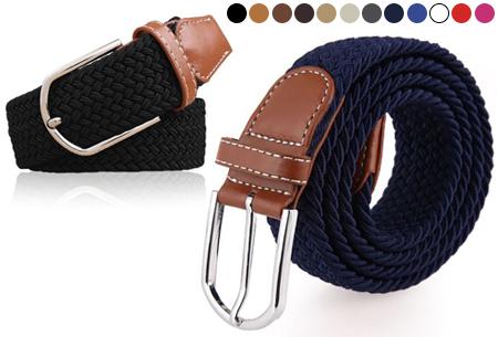 Elastische geweven riem | Dé stretch riem die altijd perfect zit!