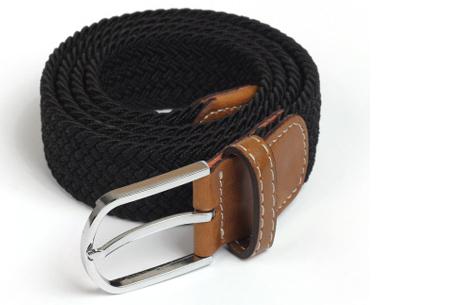 Elastische geweven riem | Dé stretch riem die altijd perfect zit! Zwart