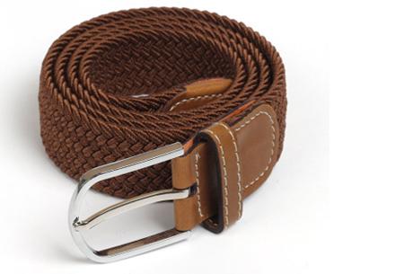 Elastische geweven riem | Dé stretch riem die altijd perfect zit! Bruin
