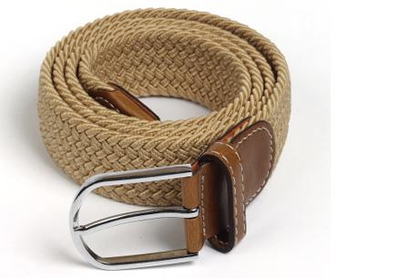Elastische geweven riem | Dé stretch riem die altijd perfect zit! Khaki