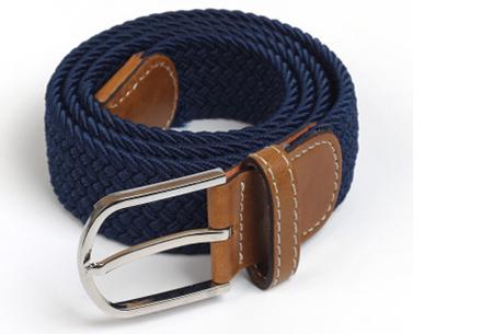 Elastische geweven riem | Dé stretch riem die altijd perfect zit! Navy