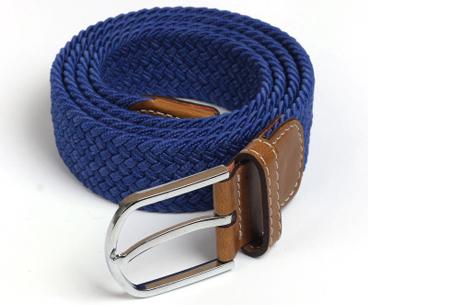 Elastische geweven riem | Dé stretch riem die altijd perfect zit! Blauw