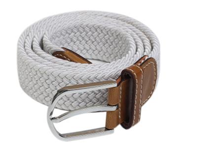 Elastische geweven riem | Dé stretch riem die altijd perfect zit! Wit