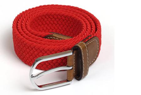 Elastische geweven riem | Dé stretch riem die altijd perfect zit! Rood