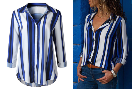 Striped blouse in 13 prints | Stijlvolle blouse met streepjespatroon #6