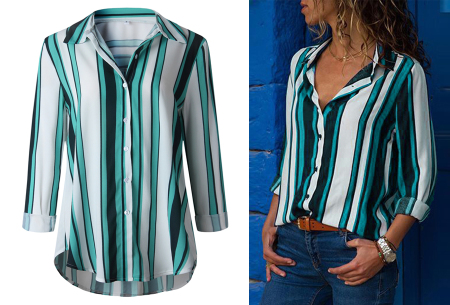 Striped blouse in 13 prints | Stijlvolle blouse met streepjespatroon #7