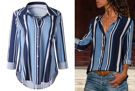 Striped blouse in 13 prints | Stijlvolle blouse met streepjespatroon #8