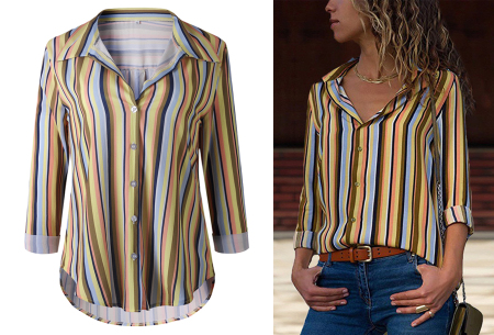 Striped blouse in 13 prints | Stijlvolle blouse met streepjespatroon #10