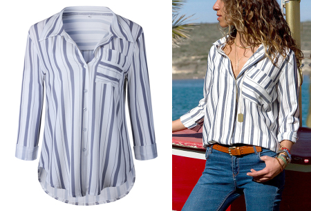 Striped blouse in 13 prints | Stijlvolle blouse met streepjespatroon #1