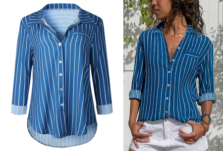 Striped blouse in 13 prints | Stijlvolle blouse met streepjespatroon #3