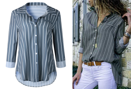 Striped blouse in 13 prints | Stijlvolle blouse met streepjespatroon #4