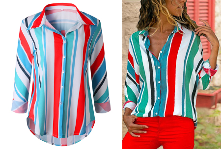 Striped blouse in 13 prints | Stijlvolle blouse met streepjespatroon #13