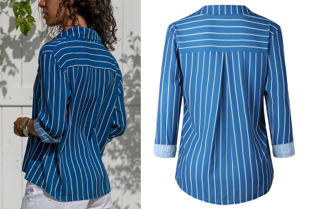Striped blouse in 13 prints | Stijlvolle blouse met streepjespatroon
