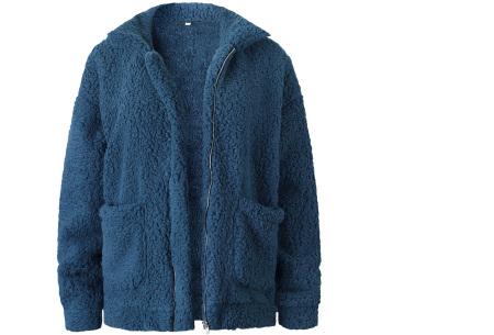 Teddy jas | Zachte en warme musthave in maar liefst 9 kleuren Blauw