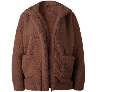 Teddy jas | Zachte en warme musthave in maar liefst 9 kleuren Coffee