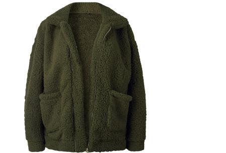 Teddy jas | Zachte en warme musthave in maar liefst 9 kleuren Legergroen
