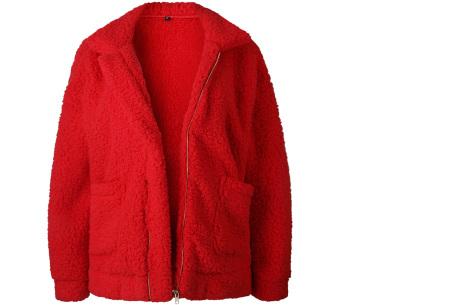 Teddy jas | Zachte en warme musthave in maar liefst 9 kleuren Rood
