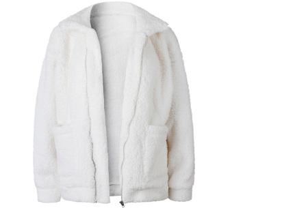 Teddy jas | Zachte en warme musthave in maar liefst 9 kleuren Wit