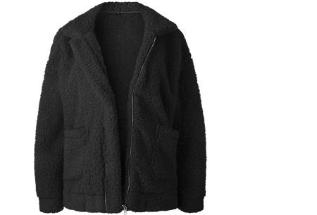 Teddy jas | Zachte en warme musthave in maar liefst 9 kleuren Zwart