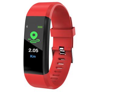 Bluetooth Activity tracker met o.a. bloeddruk- en hartslagmeter | Meet beweging & slaap rood
