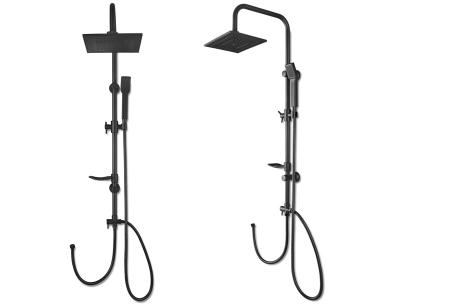 Regendouche met afneembare handdouche | Voor een luxe douche-ervaring RVS - zwart