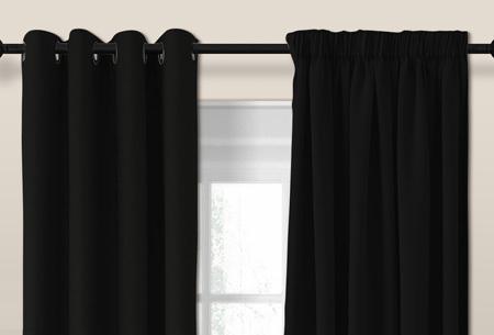 luxe verduisterende gordijnen kant en klaar verkrijgbaar in verschillende maten en kleuren zwart