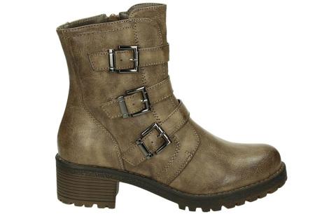 Buckle biker boots | Stoere en stijlvolle enkellaarsjes Khaki