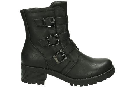 Buckle biker boots | Stoere en stijlvolle enkellaarsjes Zwart