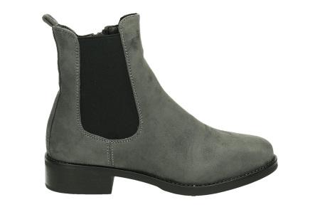 Suède look enkellaarsjes | De ideale schoen voor de najaarsdagen  grijs