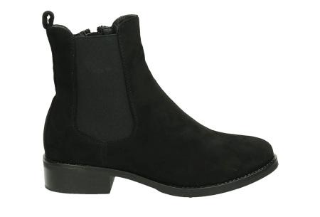 Suède look enkellaarsjes | De ideale schoen voor de najaarsdagen  zwart