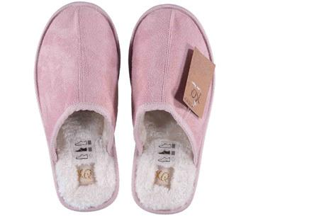 Apollo pantoffels voor dames en heren | Heerlijk zachte sloffen met warme binnenvoering  roze