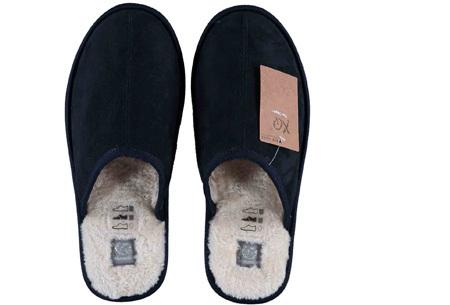 Apollo pantoffels voor dames en heren | Heerlijk zachte sloffen met warme binnenvoering  navy